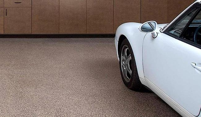 Mojave Decorative Chip Epoxy Garage Flooring